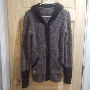 Barefoot dreams  zip up hooded cardigan